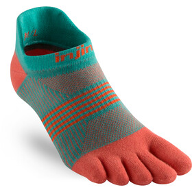 Injinji Run Coolmax Xtra Lightweight No Show Socks Women, guava